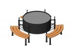 Скамейка круглая 3 сидения
