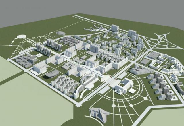 Жилой район в Актобе на 250 тыс жителей